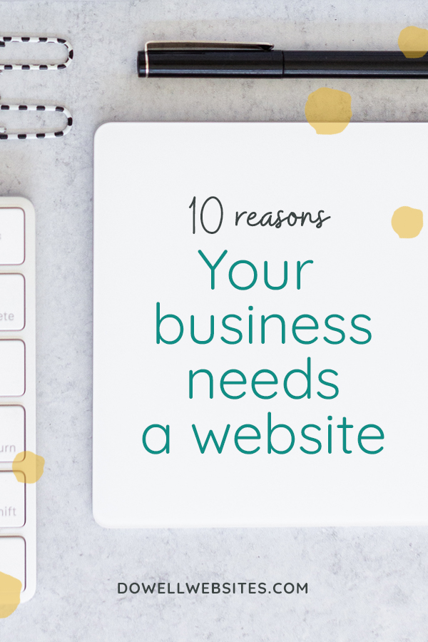 Over 80% of people go to the internet to research a business first. If that alone doesn't convince you, learn 10 more advantages of having a website.