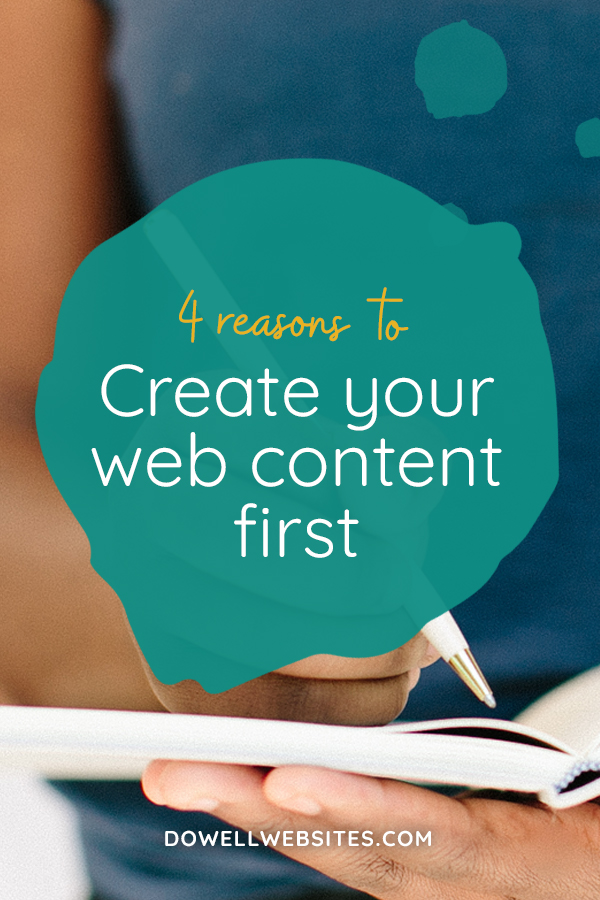 In order to create a successful website, you need to have the right content to meet your goals. But I often see new entrepreneurs wing it and dive right into creating their website before they've organized what goes on the page and it just doesn't work.