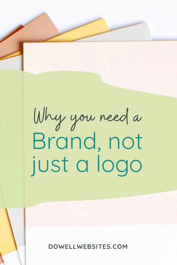 Often new entrepreneurs fall into the trap of thinking all you need is a logo and BAM you're in business. And while, sure, you could simply create a logo and be on your way, it won't be that effective if you haven't created a brand first.