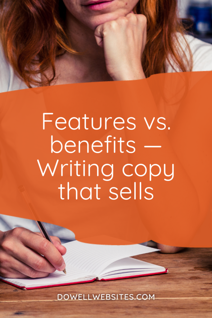 """Features vs. benefits — you may have heard people say features tell, benefits sell. But you may be wondering, """"What's the difference?"""" Let's dig into it"""