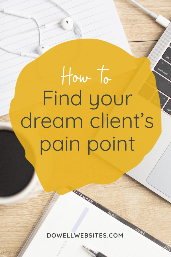 The key to creating a website that your dream clients will actually read and one that will make a real connection with them is by truly understanding them. And to understand them you have to pinpoint not only their problem, but more importantly why they have their problem in the first place.