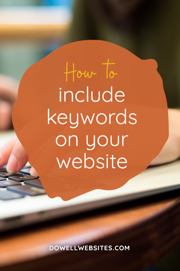 How to include keywords on your website
