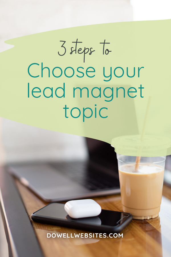 You know you need to offer a freebie (aka lead magnet) on your website if you want to grow your email list. But how do you know what topic will be so irresistible that your dream client is willing to give you their email address for it? Let's go over 3 steps you can take to help you choose your topic.